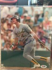 Carney Lansford Oakland Athletics Signed 8x10 Photo PSA