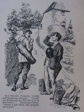 Railway & Trains Theme HOW FAR TO THE STATION? Antique Punch Cartoon