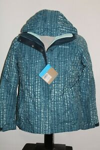 NEW NWT COLUMBIA Womens Large L zip-out insulated hooded Snowboard/snow Jacket