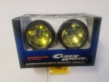 """3"""" 12V H3 55W UNIVERSAL ROUND DRIVING FOG LIGHTS LAMPS CAR TRUCK JEEP SUV AMBER"""