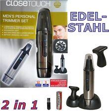 Edelstahl Bart-Trimmer Nasenhaar-Trimmer Ohrhaar-Trimmer Closetouch™ 2-in-1 NEU!
