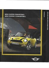 MINI COOPER CONVERTIBLE AND MINI COOPER S CONVERTIBLE SALES BROCHURE 2009