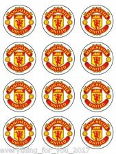 "Manchester United Edible Icing, Cup Cake Toppers 12 x 2"" Standart"