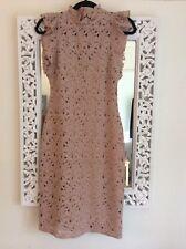 Zara desnuda el entorchado Encaje Vestido, Tamaño S UK 8 Nuevo
