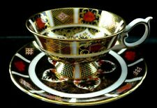 Royal Crown Derby 1128 Old Imari Elizabeth Footed Cup & Saucer Ist Quality