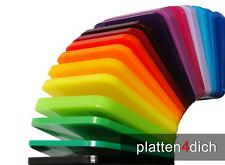 Acrylglas / Plexi Farbig 3mm - Perspex®. Zuschnitt Platten auf Maß ab 1 Euro