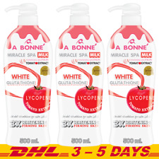 3 x 500ml : A Bonne Miracle Spa Milk UV Whitening Lotion with Tomato Extract