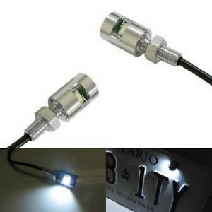 Chome White 5730-SMD Bolt-On LED License Plate Lights For Car Motorcycle Bike