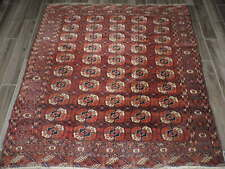 6x6ft. Antique Turkoman Bokharra Wool Rug