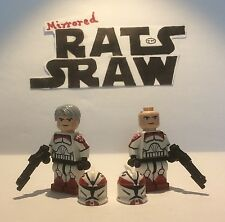 Lego Star Wars minifigures - Clone Custom Troopers - Sinker and Boost 104th