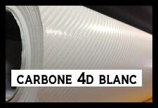 FILM VINYLE CARBONE 4D BLANC 152 x 100 cm