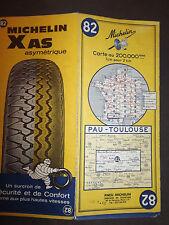 Carte michelin 82 pau toulouse 1968