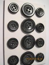 Horn effect 12 pc Italian coat BLAZER SUIT BUTTON Set 24/36 4 hole  K5 Black