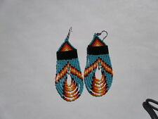 seed beaded turquoise/navaho colors