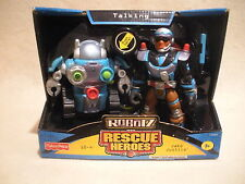 Rescue Heroes Robotz Jake Justice & 10-4 Factory Sealed!