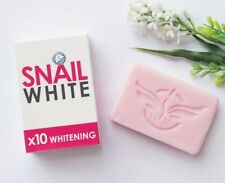 Dhl 12 x Snail White Whitening Soap Glutathione x10 Skin Reduce Acne Anti-aging