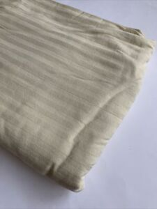 Linens N Things Queen Duvet Cover Solid Yellow Striped Cotton Cottage Shabby