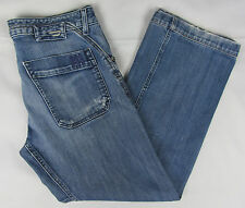 Mens Diesel Rumbum jeans Light Distressed Loose Fit Italy Made Blue 33