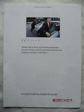 BECKER PROSPEKT.8 SEITEN,4 BLÄTTER aus 1998,TRAFFICSTAR,MEXICO PRO MD 4937