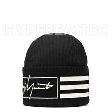 Y-3 Beanie Wool 3 Stripes Logo Yohji Yamamoto adidas Unisex One Size Black NWT