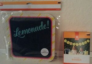 LEMONADE: Banner & Chalkboard Bundle Pack Fun For Your Stand! New In Sealed Pack