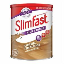 Slim Fast Diet Caramel Milkshake Powder Meal Replacement For Weight Control 438g