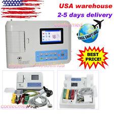 Contec Digital 3 Channel 12 lead ECG/EKG Machine+software US seller Newest