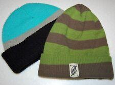 Lot/2 GRENADE Beanie ARMY GREEN Cuffed Ribbed Knit Winter Hat + Black/Gray/Aqua