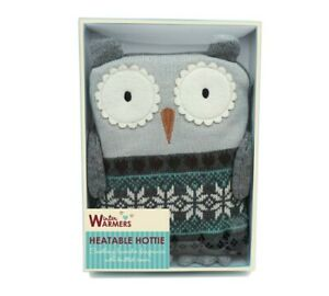 Heatable Hottie with Owl design Knitted Cover