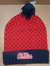 NEW NIKE NCAA Ole Miss Rebels Winter Cuffed Knit Hat Cap NIKE Women Ladies NWT