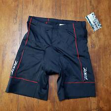 "ZOOT Mens XL Tri Shorts Core Black Red 7"" Padded Swim Bike Run Triathlon XLarge"