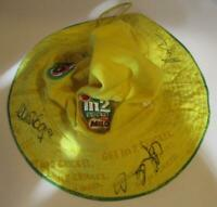 Milo Cricket Bucket Hat Autographed by 3 Legends including Aaron Finch 57cm