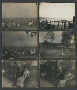 Bronx New York City NY: Lot of Six 1912 Photographs CROTONA PARK, HUDSON RIVER +