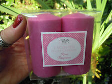 Scented Pillar Church Candle  fragrance candles ROSE pack of 2 Pink