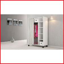 [No Tax ] Tvilum Mobile Wardrobe Storage Cabinet, Closet space, Five shelves