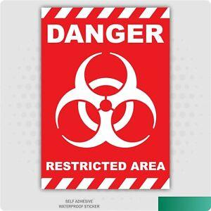 Restricted Area Biohazard Sticker Car Van Lorry Vinyl Self Adhesive Decal