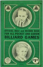 Vintage 1968 Official Rule & Record Book for Pocket & Carom BILLIARD GAMES