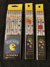 Pac-Man vintage lot of 16 pencils 1980 Empire Pencil Corp. sealed new old stock