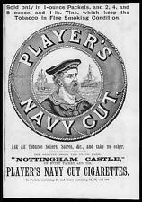 1895 Antique ADVERTISING Print - Players Navy Cut Cigarettes Tobacco (33)
