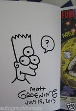 Matt Groening auto signed & doodled Futurama 2013 Comic-Con exclusive comic book