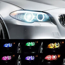2x 80MM RGB LED COB Angel Eye Lights DRL Halo Ring Headlight Kit Phone Control