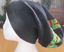 Unisex Rasta Long African Style Fleece Slouch Beanie Hat Red Gold Green Black