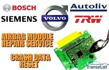 VOLVO AIRBAG ECU SRS ECU AIRBAG MODULE CRASH DATA RESET REPAIR SERVICE