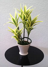 "Lot of 3 Artificial 26"" Song of India Plants in Pot Green Silk"