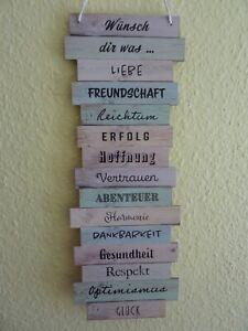 """Spruchtafel Plankenschild  Wandschild in Retro Optik - """" Wünsch dir was....."""