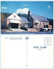 City Hall Calhoun Georgia Building Postcard Architecture