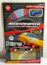 Need for Speed Porsche Unleashed PC Sampler Disc & 1:64 Custom Texaco Rennwagen