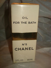 Vintage CHANEL no 5 OIL FOR THE BATH sealed 3 oz box