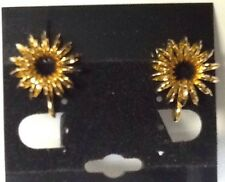 VINTAGE 1/20 12Kt GOLD FILLED ART DECO 3D BUTTON EARRINGS- SCREWBACKS BEAUTIFUL!