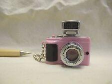 L074 Pink System Digital Camera w/ Flash Lighting Miniature Key chain 1:4